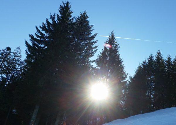 Landschaftsbild mit Sonne